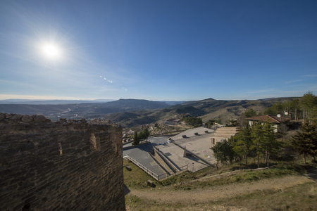 Viewpoint to the town of Morella in the maestrazgo, Spain