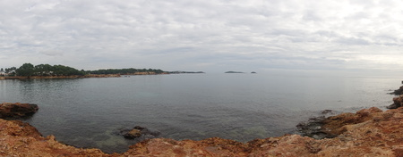 The coast of Ibiza a very cloudy day, Spain
