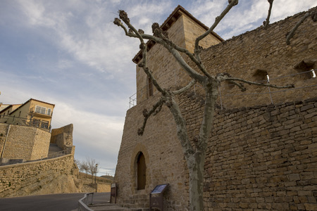 Streets in the medieval village of Morella, Spain Redakční