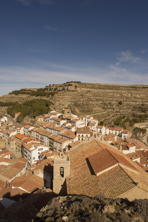 The village of Ares del Maestre in the province of Castellon, Spain Banque d'images - 121787369