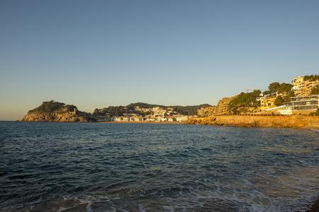 The village of Tossa de mar next to the Mediterranean, Spain Imagens