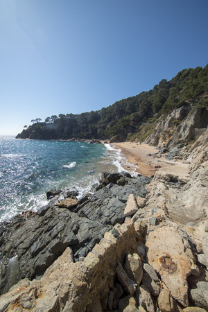 The creek llorell by the way of round, Tossa de mar, Spain
