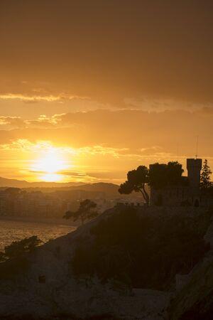 Sunset on the Ronda de Lloret de Mar path, Spain