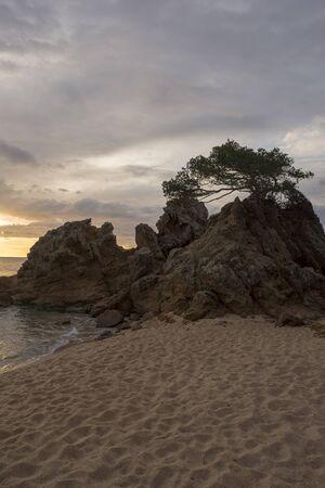 Fenals beach in Lloret de Mar at sunrise, Spain