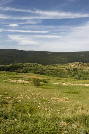 Mountains of Valdelinares a day of Summer, Spain Stockfoto