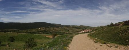 Path through the mountains of Valdelinares in Summer, Spain