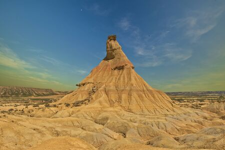 Rock formations in the Bardenas Reales natural park, Spain