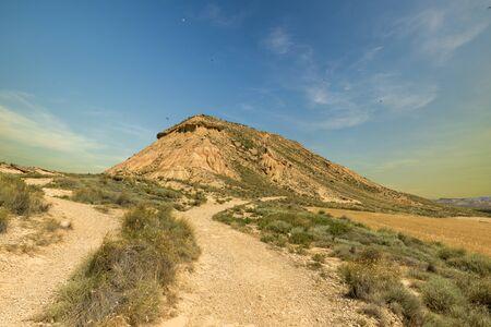 The desert of the bardenas reales in navarra, Spain