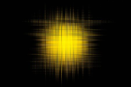 A black background with a yellow abstract stain for graphic resource Фото со стока