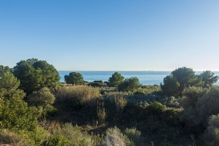 The green road from Oropesa to Benicassim, Costa Azahar, Spain