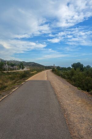 The green way from Benicassim to Oropesa, Spain Foto de archivo