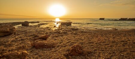 The coast of Vinaroz during a sunrise, Costa azahar, Spain Reklamní fotografie - 148646469