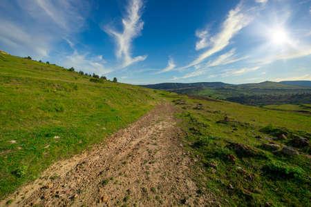 Valdelinares mountains in summer a sunny day, Spain Reklamní fotografie