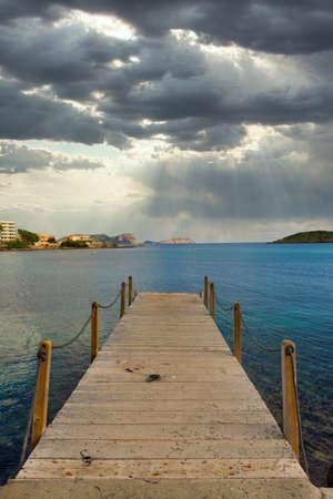 The coast of Des Canar in Ibiza, Balearic Islands, Spain Reklamní fotografie - 151304944