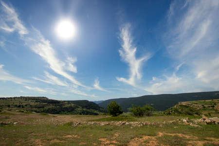 Mountains of Valdelinares a day of Summer, Spain Reklamní fotografie