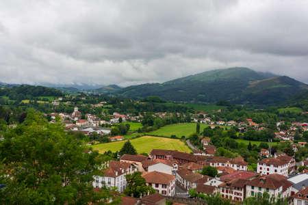 The pretty town of San Juan de Pie de Puerto, France