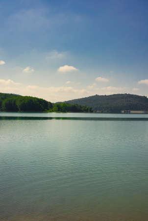The Sichar reservoir in Ribesalbes, Castellon, Spain Reklamní fotografie