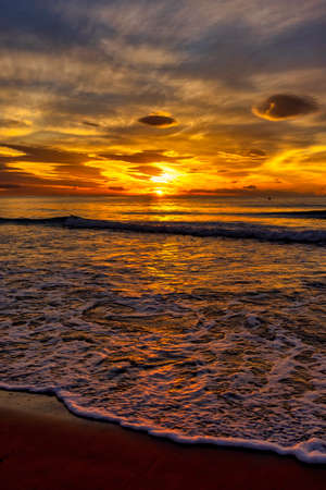 The sunrise sun on the beach, Spain Reklamní fotografie