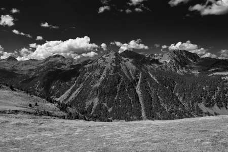 A mountainous area in black and white, Spain