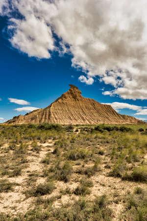 Desert landscape of the bardenas reales in Navarra, Spain