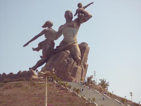 african renaissance monument in Dakar, Senegal