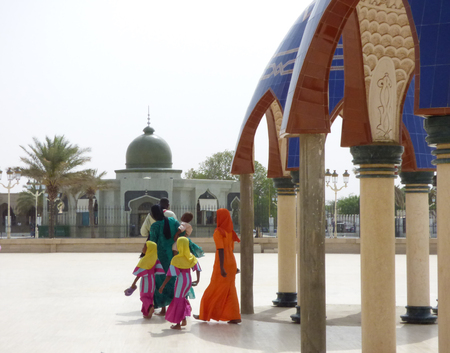 African family at mosquee
