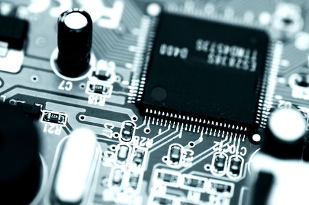 circuitboard: Electronic circuit, close-up view
