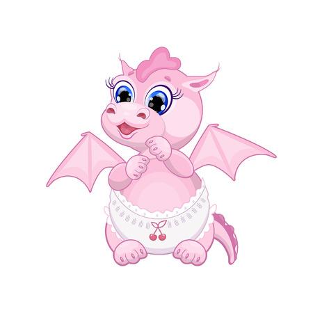 dragon vertical: beautiful baby pink dragon funny