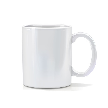 white mug for graphics Vector