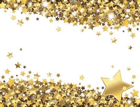 光沢のある金の星の背景  イラスト・ベクター素材