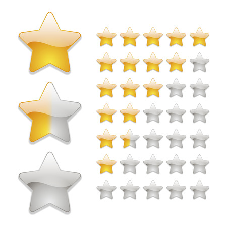 star rating icons in yellow Vector