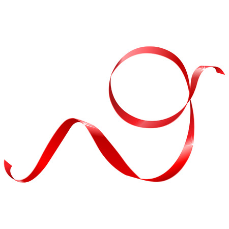 red label: red ribbon in the shape of nines