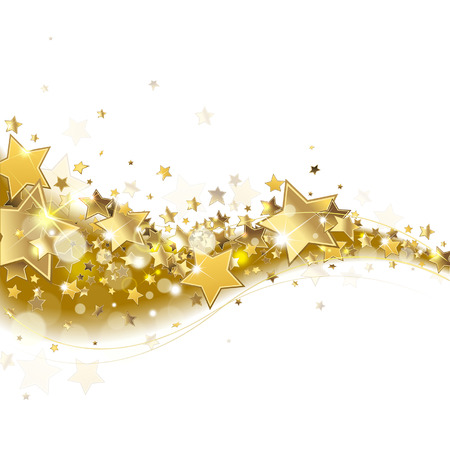background with sparkling golden stars Ilustracja