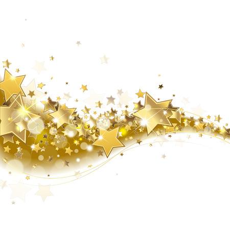 gold stars: background with sparkling golden stars Illustration