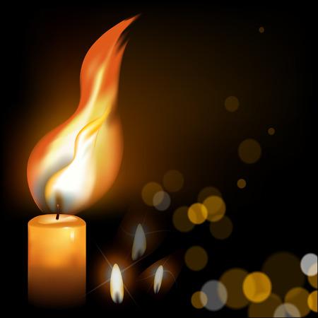 Holy Fire on a dark background Illustration
