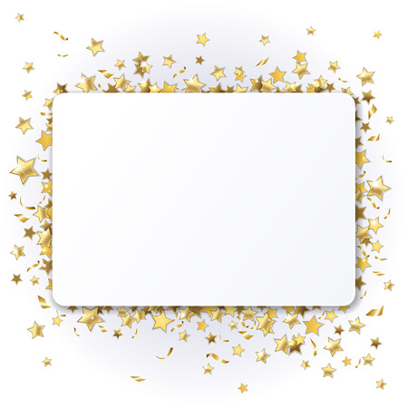 background with shiny gold stars Ilustracja