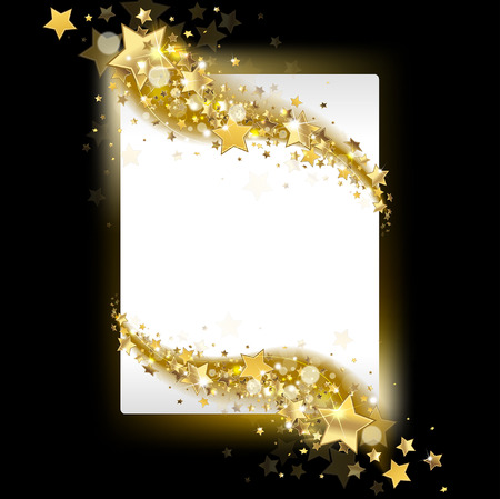 gold star: banner with stars on a dark background