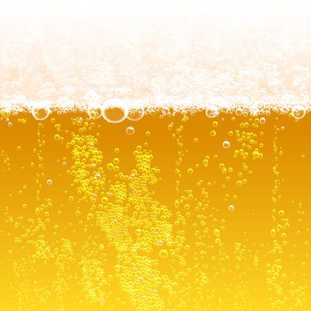 背景とビールの泡と泡を