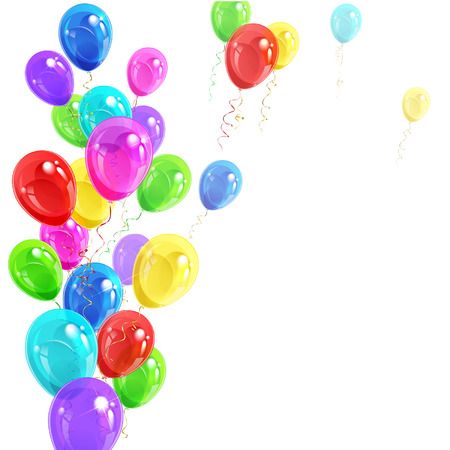 colored balloons: background of bright colorful balloons