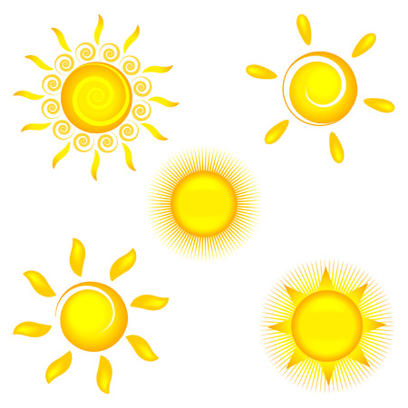 sun icons on white background