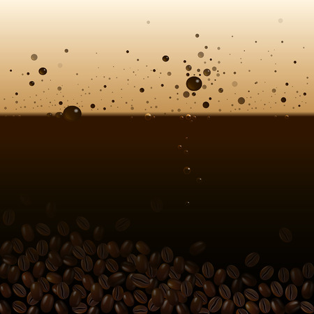 foam bubbles: background of coffee with foam and bubbles Illustration