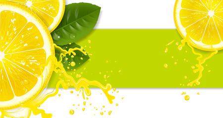 lemons with drops of juice Illustration
