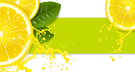 lemons with drops of juice Illustration