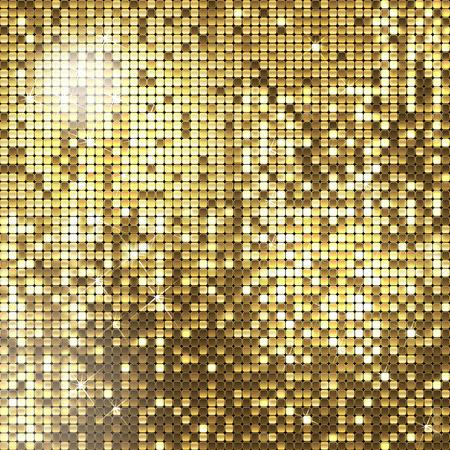 glisten: золотой фон сверкающих пайеток Иллюстрация