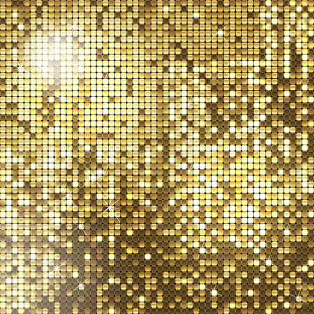 viso: Fondo de oro de lentejuelas brillantes Vectores