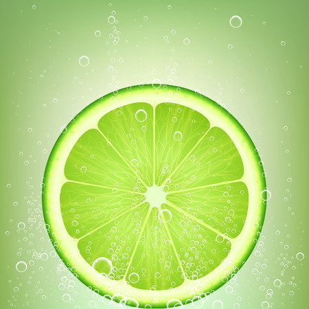 soda splash: lemonade from lime with bubbles