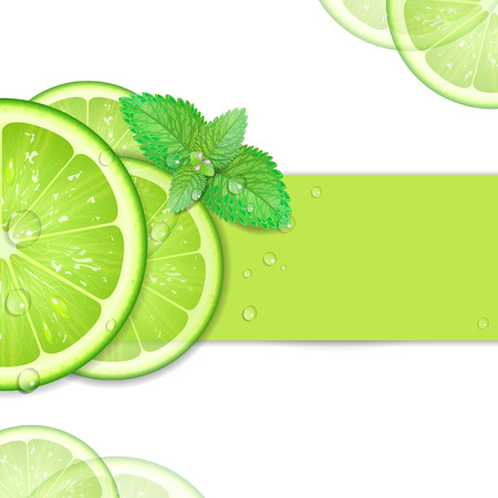 background of lime with mint