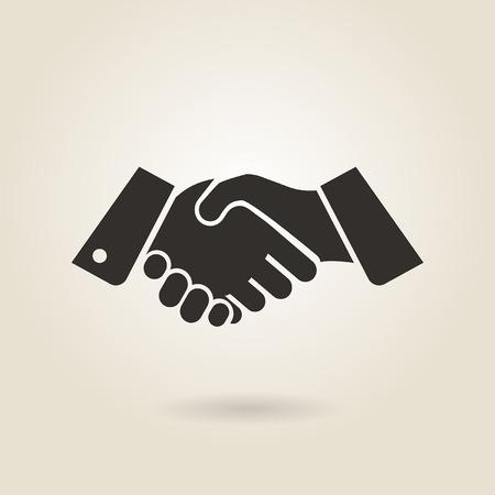 handen schudden op een lichte achtergrond Stock Illustratie