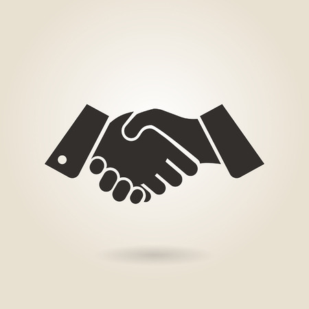 human hand: shaking hands on a light background Illustration