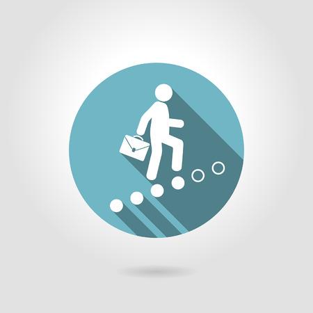 crecimiento personal: hombre sube en el escalafón